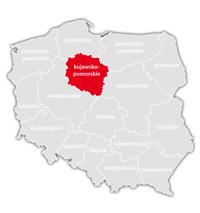 Mapa nadajników DVB-T: województwo kujawsko-pomorskie