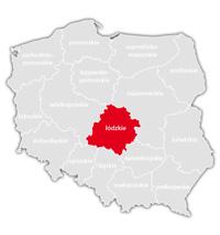 Mapa nadajników DVB-T: województwo łódzkie