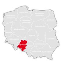 Mapa nadajników DVB-T: województwo opolskie