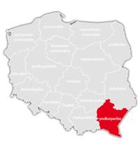 Mapa nadajników DVB-T: województwo podkarpackie