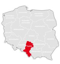 Mapa nadajników DVB-T: województwo śląskie