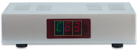 Modulator RF z numerem kanału na wyświetlaczu