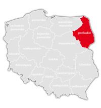 Mapa nadajników DVB-T: województwo podlaskie