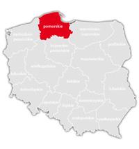 Mapa nadajników DVB-T: województwo pomorskie