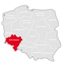 Mapa nadajników DVB-T: województwo dolnośląskie
