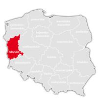 Mapa nadajników DVB-T: województwo lubuskie