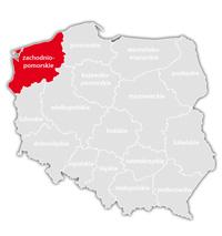 Mapa nadajników DVB-T: województwo zachodniopomorskie