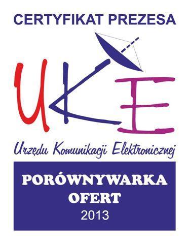 Cyfrowy Doradca otrzyłam Certyfikat UKE na porównywarkę ofert telewizyjnych