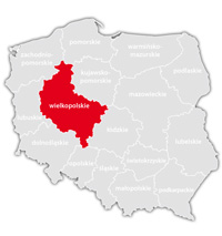 Mapa nadajników DVB-T: województwo wielkopolskie