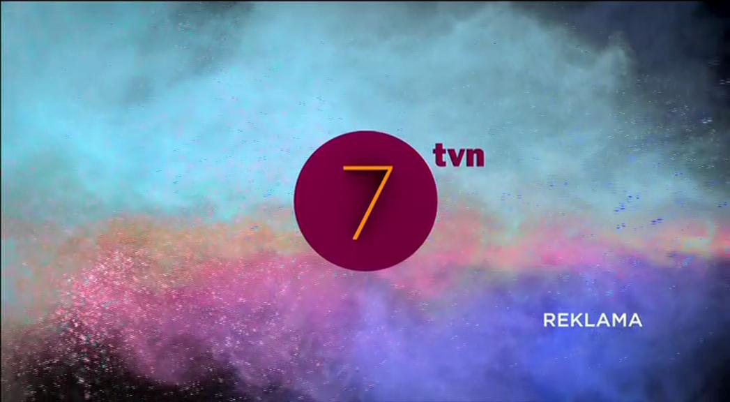TVN7 - jedna z nowych szat graficznych zapowiedzi reklamy.