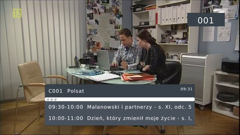 Dekoder Manta DVBT06 - OSD