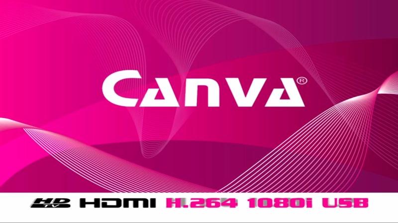 Plansza powitalna dekodera Canva CN-DVB-T710.
