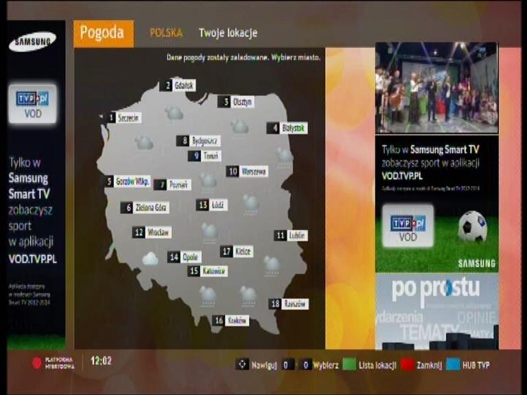 Prognoza pogody TVP (Hbb tv)