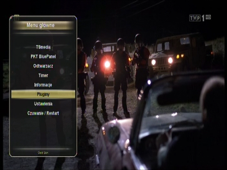 Wtyczki - jedna z funkcji menu tunera Golden Interstar Xpeed LX2.