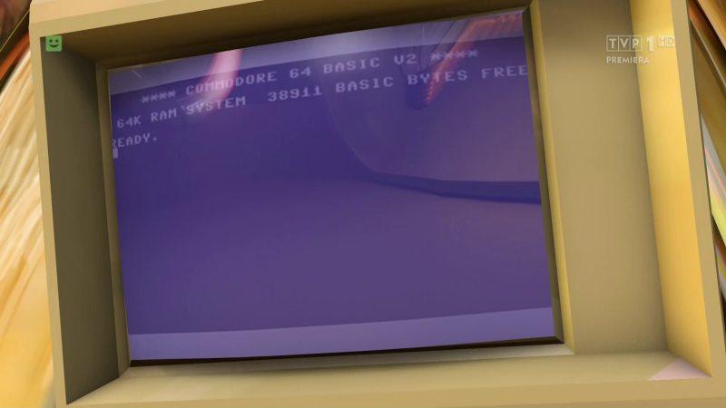 Commodore 64 w czołówce Teleranka