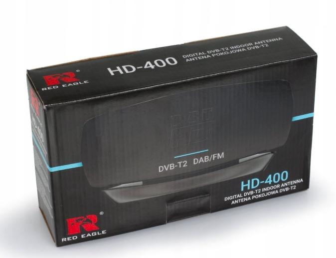 Antena pokojowa HD-400markiRed Eagle - opakowanie